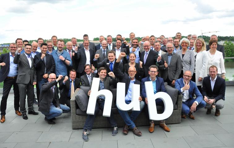 Hub-Unterstützer freuen sich über den Zuschlag des Land NRW