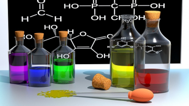 symbol picture: some chemical substances, some complex formulae