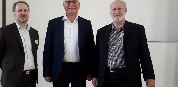 Dr.  Frank Köhne, viadee; Ludger Hemker, items; Prof. Dr. Herbert Kuchen, ERCIS